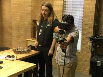 VR demonstration at Digital Fabrication Symposium at Willis Library
